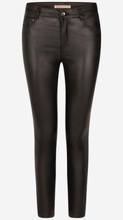 Zwarte leatherlook broek