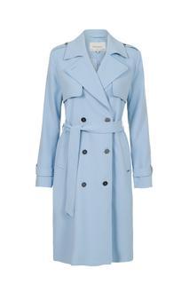 Dames Trenchcoat soft lichtblauw