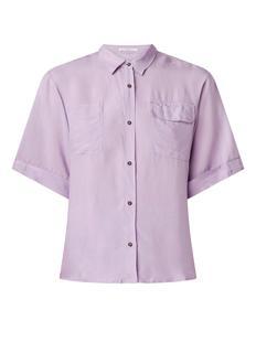Daelo loose fit blouse met borstzakken
