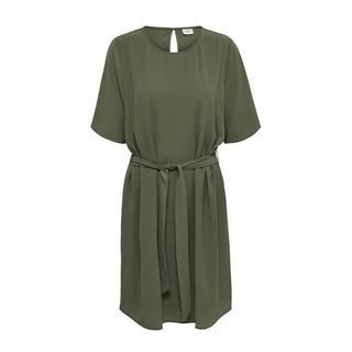 jurk met ceintuur olijfgroen