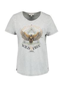 t-shirt met opdruk grijs pg 000915