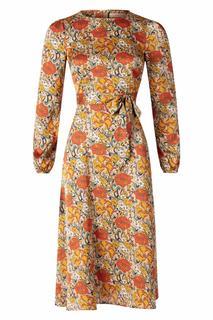 70s Moodless Floral Dress in Beige