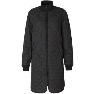Gewatteerde jas lang ART06 - 001 Black