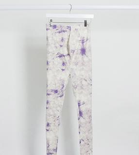 Tie-dye legging, combi-set-Paars