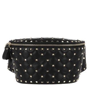 Cross Body Bags - Rockstud Spike Bum Bag Leather Black in zwart voor dames