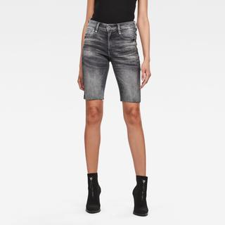 Noxer High Slim Short Raw Edge - Skinny Fit - Taillehoogte Hoog