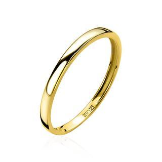Gold 14 karaat gouden aanschuifring glad ZGR146