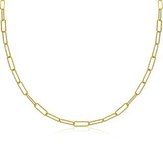 zilveren ketting 45cm in 14K geel verguld met trendy paperclip schakels van 3,4mm breed ZIC1992G