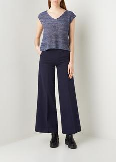 High waist wide fit broek met steekzakken