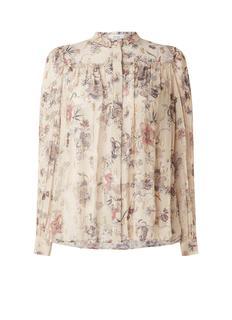 Blythe blouse met bloemenprint en lurex