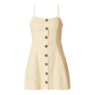 Mini-jurk met sierknopen