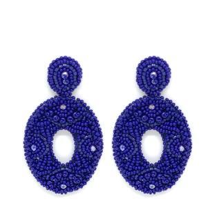 Beads Blue Earrings