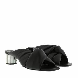 Loafers & ballerina schoenen - Heeled Mule Leather in zwart voor dames