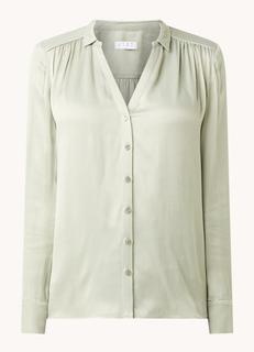 Celine blouse van satijn met plooien