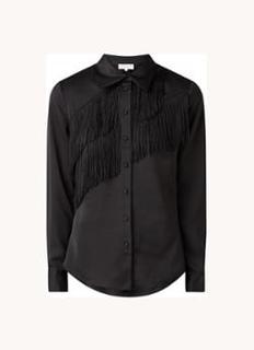 Branwen blouse van satijn met franjes