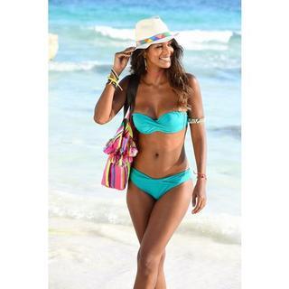 bandeau-bikinitop Spain unikleur in wikkel-look