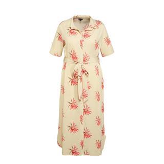 gebloemde blousejurk Maxim lichtgeel/rood/oudroze