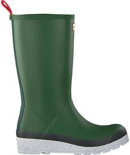 Groene Regenlaarzen Womens Play Tall Speckle Sole
