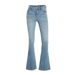 high waist flared jeans Sunrise light blue stone