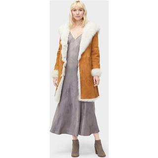 Vanesa Toscana Shearling Coat voor Dames in Chestnut