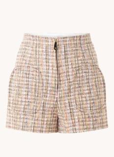 High waist slim fit korte broek met print