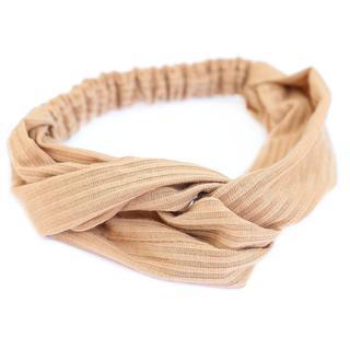 Haarband jersey beige