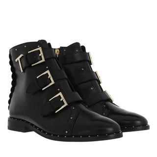 Boots & laarzen - Romona Triple Buckle Biker Boot in zwart voor dames
