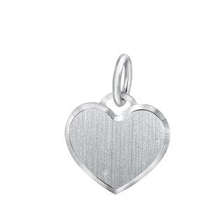 Zilveren hanger graveerplaat hart