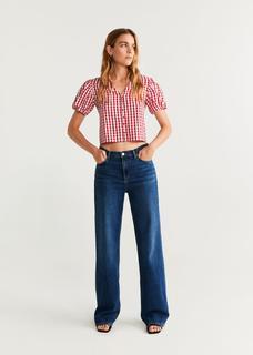 Geruite blouse met knopen