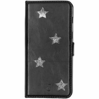 Reversed Star Booktype voor Samsung Galaxy A8 (2018) - Zwart