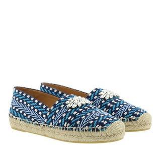 - Rhinestone Embellished Espadrilles in blauw voor dames