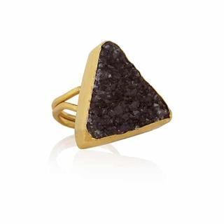 Elpis   Triangle amethist ring