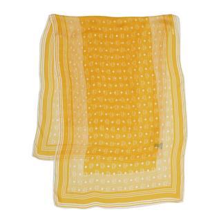 Sjaals en caps - Visetos Stripe Stole Freesia in geel voor dames