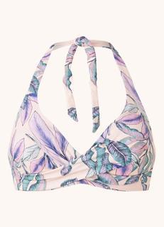 Tropical Blush voorgevormde halter bikinitop