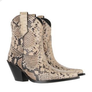 Boots & laarzen - Cowboy Ankle Boots in beige voor dames