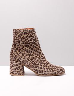 5101101-00 enkellaarsjes dames beige beige 001 leopardino avola suede