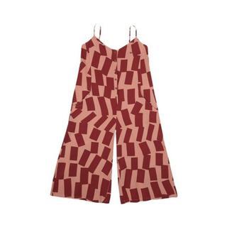Rectangles pattern sleeveless jumpsuit