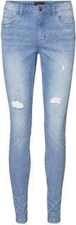 skinny fit jeans VMSEVEN SHAPE UP DESTROYED