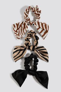 Zebra Pattern Scrunchie Set