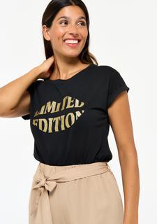 T-shirt met tekst Black