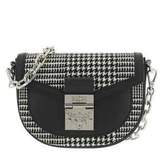 Heuptasjes - Patricia Leather Mix Belt Bag Mini in zwart voor dames
