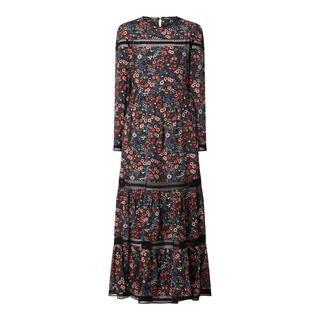 Maxi-jurk met kantinzetten