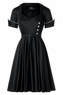 The Dahlia Swing Dress in Black