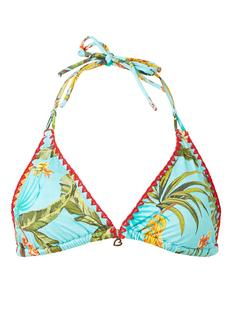 Bananas Nuco triangel bikinitop met tropisch dessin