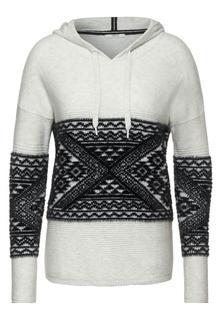 Hoodie-trui met patroon