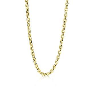 Gold 14 karaat gouden fantasie collier 6mm breed 45cm ZGC190