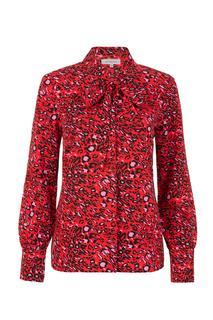 Dames Blouse panter rood