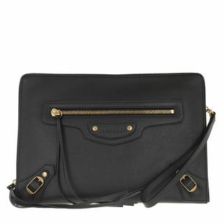 Clutches - Classic Clutch Grained Leather in black voor dames