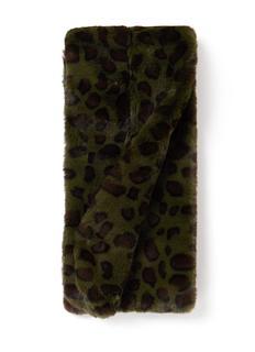 Pull Through sjaal met luipaarddessin 125 x 15 cm