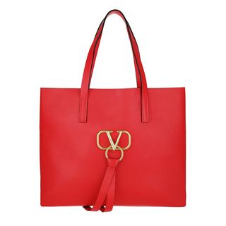 Shopping Bags - V Ring Bag Leather Rouge/Rouge in rood voor dames